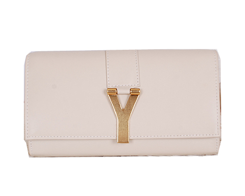 Yves Saint Laurent Chyc Travel Case Smooth Leather Y7141 OffWhite