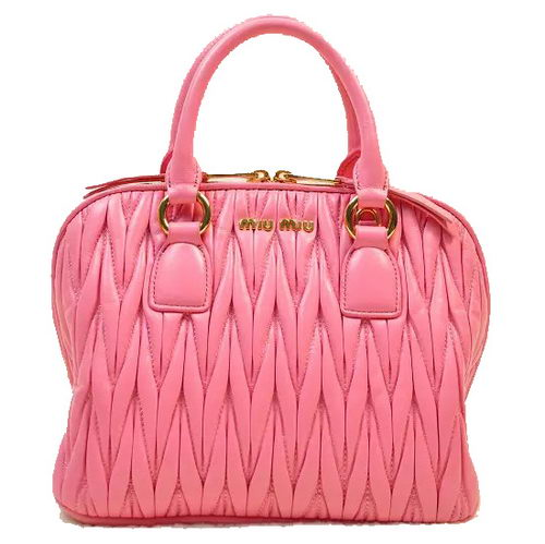miu miu Matelasse Original Lambskin Leather Tote Bag RN0097 Pink