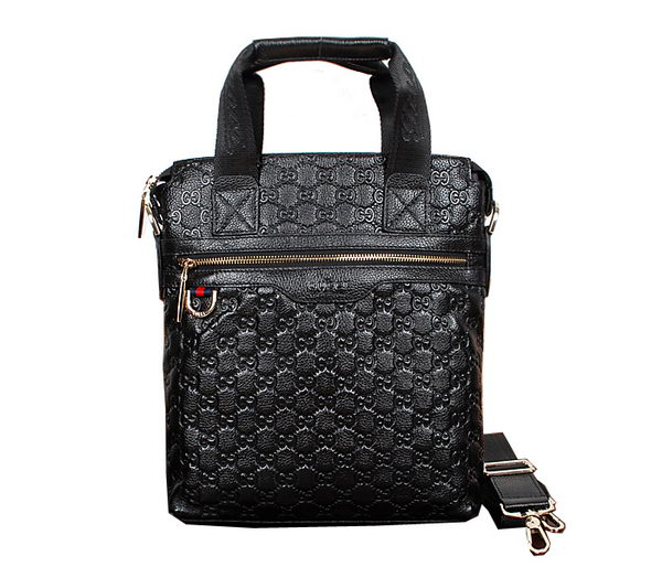 Gucci Microguccissima Travel Business Tote Bag 38352 Black