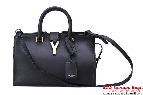 Yves Saint Laurent Small Cabas Chyc Bag Clafskin Y043 Black