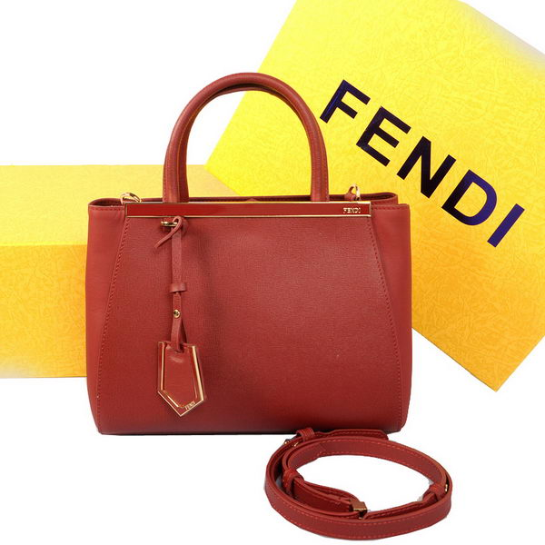 Fendi 2Jours Mini Tote Bag Original Leather 8BH250 Burgundy