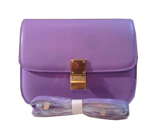 Celine Classic Box Small Flap Bag Calfskin C88007 Lavender