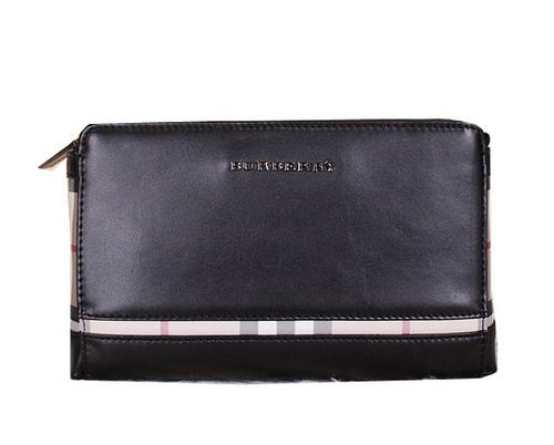 Burberry Smooth Leather Clutch BU2201 Black
