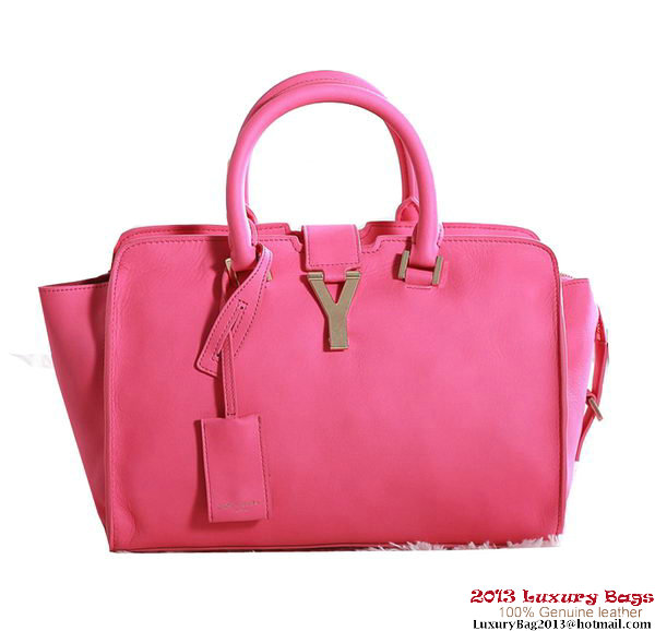 Yves Saint Laurent Small Cabas Chyc Bag Original Leather Y5086 Rose
