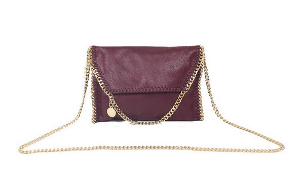 Stella McCartney Falabella PVC Cross Body Bag 875 Burgundy