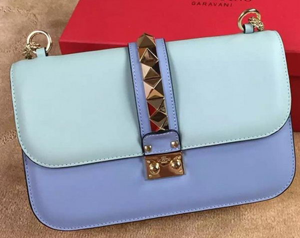 Valentino Garavani Chain Shoulder Bag Calfskin JW2B0398VIT SkyBlue