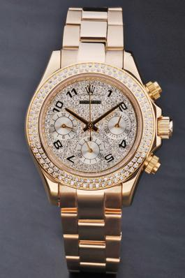 Rolex Daytona Mechanism Golden Diamond 33mm Women Watch-RD3799