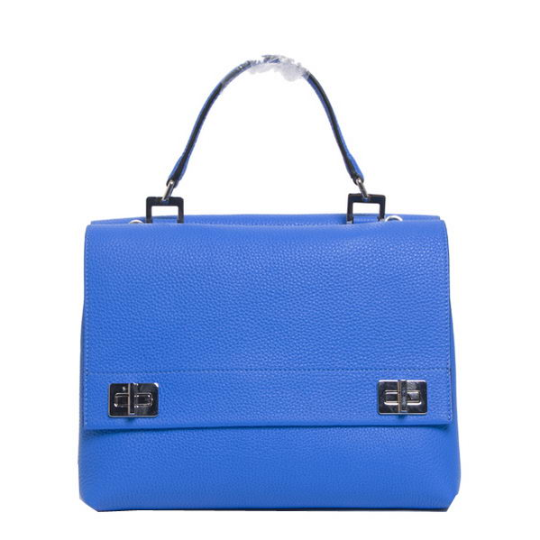Prada Original Leather Tote Bags BN2796 Blue