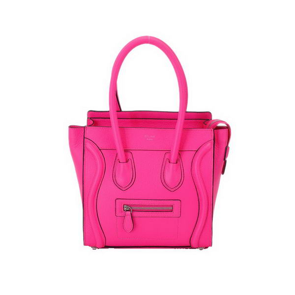 New Color Celine Luggage Calf Leather Medium Tote Bag Rose