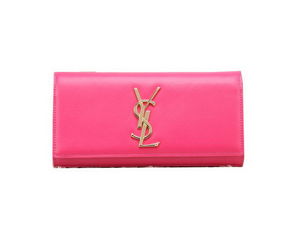 YSL Classic Monogramme Clutch Bag Smooth Leather Y8909 Rose