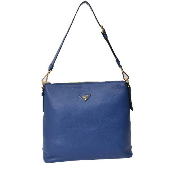 Prada Original Leather Shoulder Bags BR5088 Blue