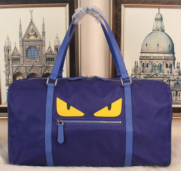 Fendi Bag Bugs Travelling Bag Nylon Fabric FD992121 Blue