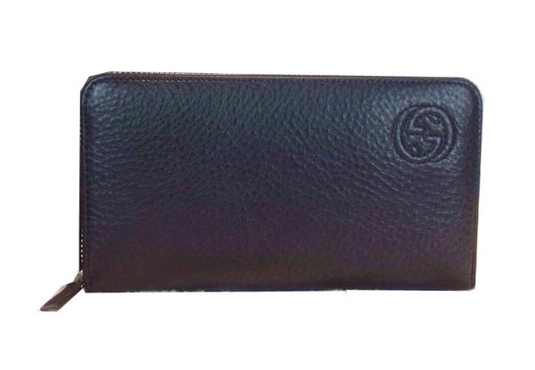Gucci Interlocking G Zip Around Wallet 328318 Black