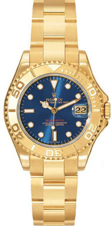 Rolex Yachtmaster Series 18k Yellow Gold Mens Automatic Wristwatch 168628-BLSO
