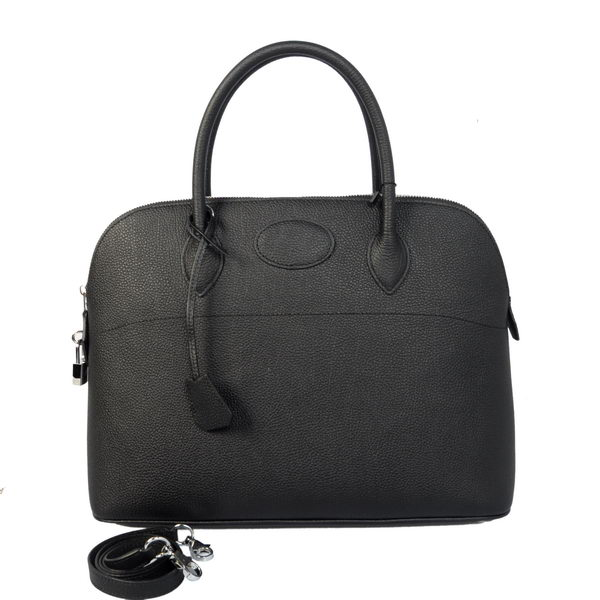 Hermes Bolide 37CM Tote Bags Calf Leather Black