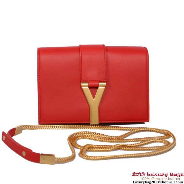 Yves Saint Laurent Chyc Small Travel Case 1834 Red