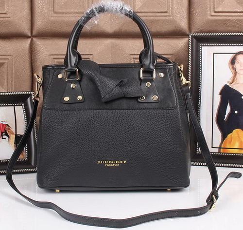BurBerry Grainy Leather Tote Bag 8815 Black