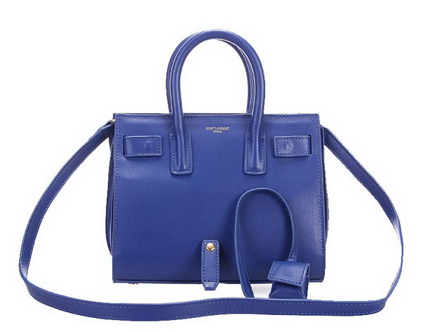 Yves Saint Laurent Classic Sac De Jour Bag in Original Leather 7102S Royal