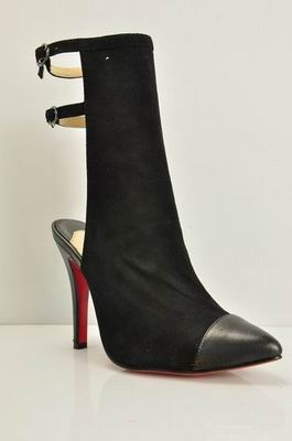 Christian Louboutin Suede Boots square-toe