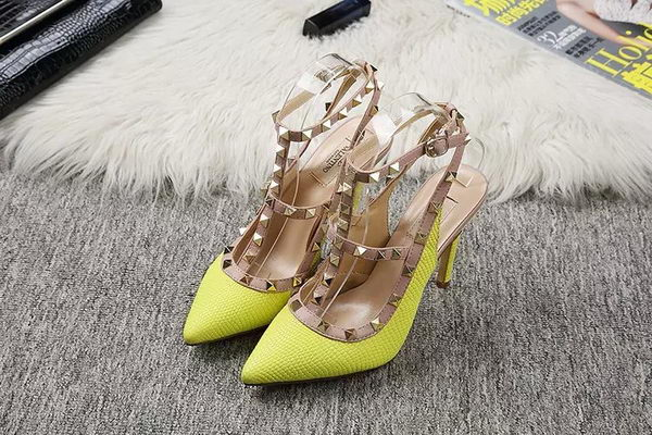 Valentino Lizard Leather Pump VT478 Lemon