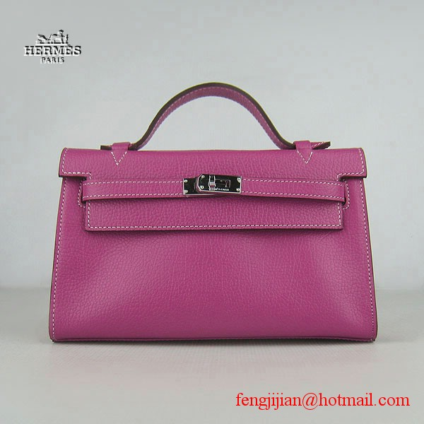 Hermes H008 cattle neck stripe peach bags