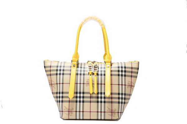 BurBerry Medium Haymarket Check Saddlestitch Shoulder Bag B8837 Yellow