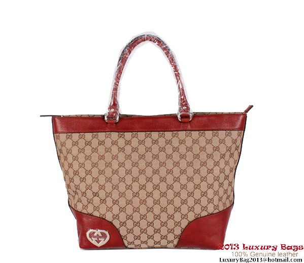 Gucci Lovely Large Tote Bag 257071 Light Brown