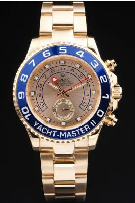 Rolex Yacht-Master II Blue&Golden Watch-RY3343