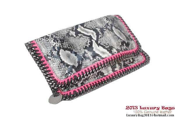Stella McCartney Falabella Snake Fold Over Clutch 812S Grey