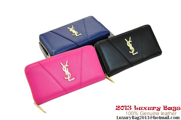 YSL Y1357 Classic Saint Laurent Zip Wallet