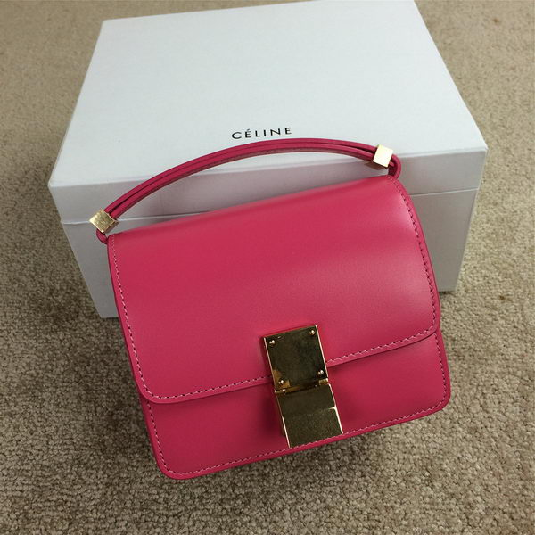Celine Classic Box mini Flap Bag Smooth Leather C11041 Rose