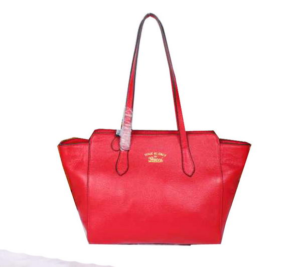 Gucci Swing Leather Tote Bag 354408 Red
