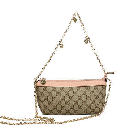 Gucci GG Fabric Evening Shoulder Bag 280068 Pink