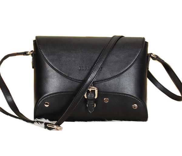 BurBerry Messenger Bag in Calfskin Leather B9181 Black