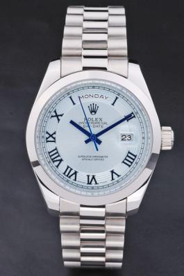 Rolex Day-Date White Stainless Steel Watch-RD2877