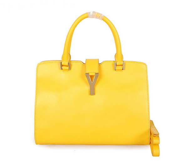 Yves Saint Laurent Small Cabas Chyc Bag in Clafskin YSL8336 Yellow