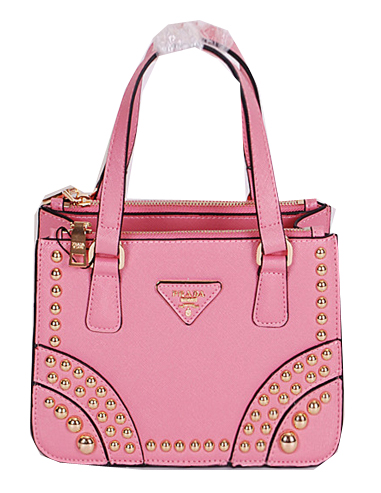 Prada Saffiano Calfskin Leather Tote Bag B1142B Pink