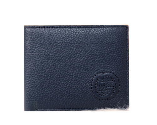 Gucci Grainy Leather Bi-fold Wallet 681058C Royal