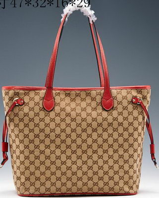 Gucci Original GG Canvas Top Handle Bag 368590 Red