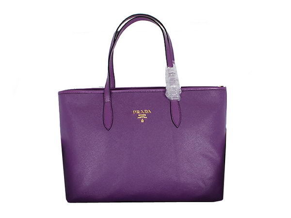 PRADA Soft Saffiano Leather Tote Bag BN1847 Purple