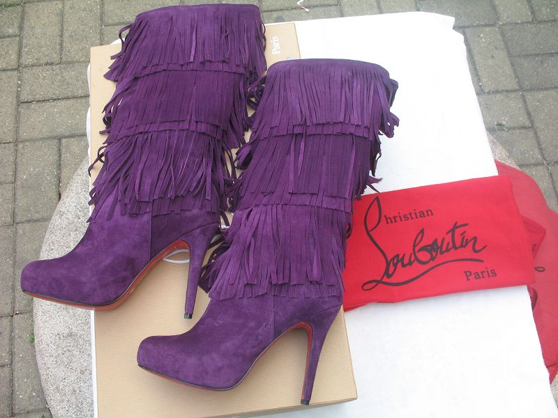 Christian Louboutin Forever Tina Boots Purple