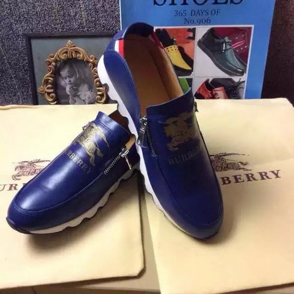 BurBerry Casual Shoes Leather BUR106HT Blue