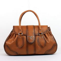 Prada Tote Bag Milled Leather YZ-8029 Wheat