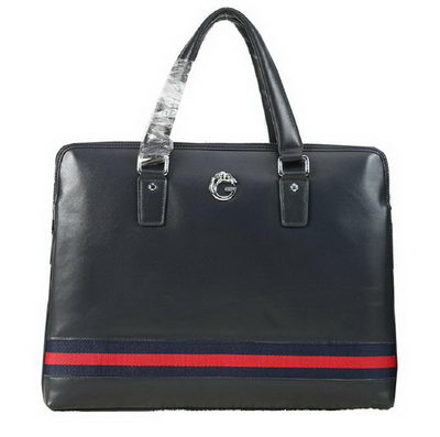 Gucci Smooth Leather Business Briefcase G8558 Royal