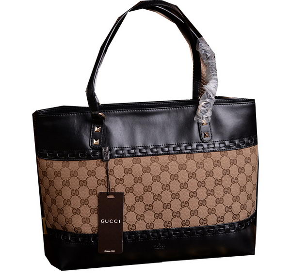 Gucci Laidback Crafty Canvas Tote Bags 339000 Black
