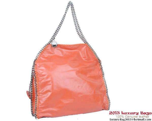 Stella McCartney Falabella PVC Fold Over Tote Bag 811 Orange