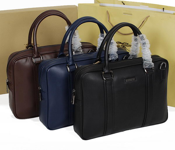 Burberry B7822 Smooth Leather Mens Briefcase