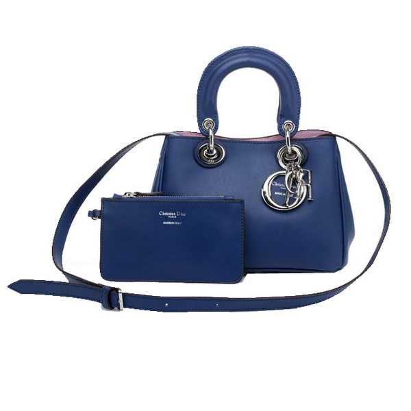 Dior mini Diorissimo Bag in Nappa Leather D0907 RoyalBlue