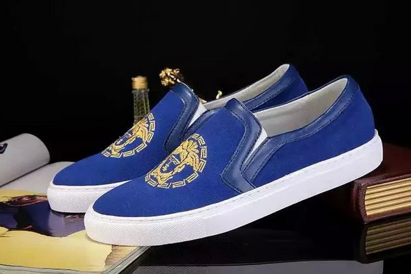 Versace Casual Shoes Suede Leather Versace79HT Blue