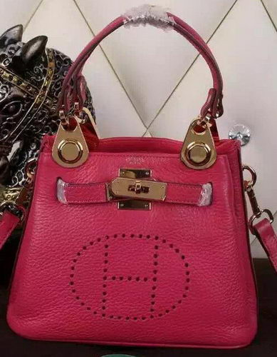 Hermes Evelyne Tote Bag Calfskin Leather HS23 Rose
